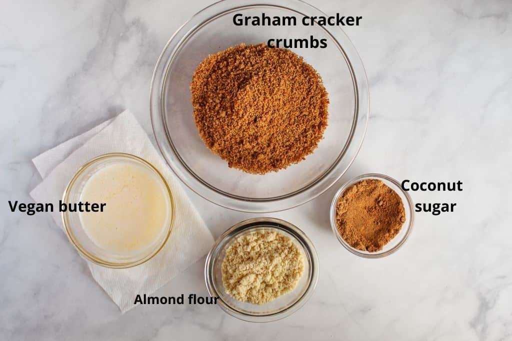 labeled ingredients on a countertop