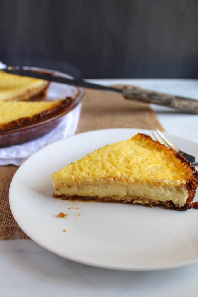 gluten free buttermilk pie slice