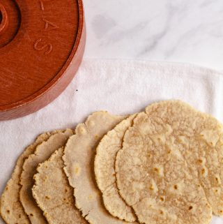 cassava flour tortillas cooked