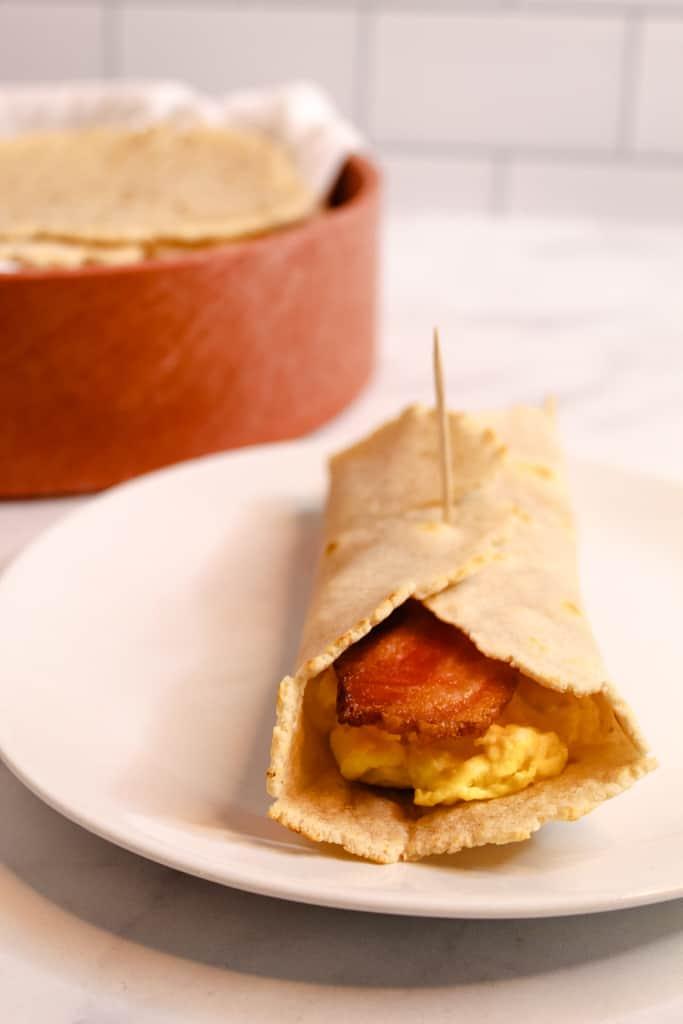 cassava flour tortillas breakfast burrito