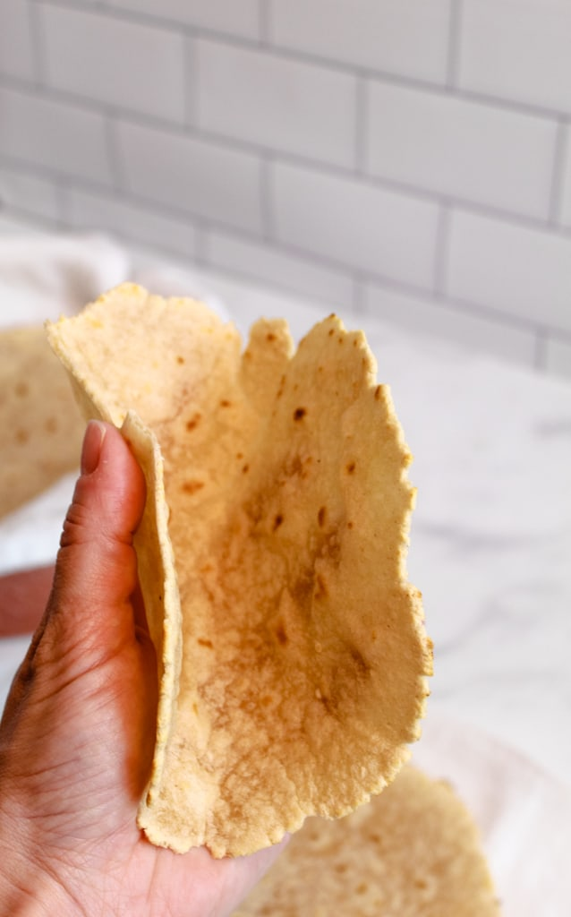 cassava flour tortillas bendable