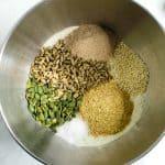Gluten Free Buckwheat Bread dry seeds in a bowl