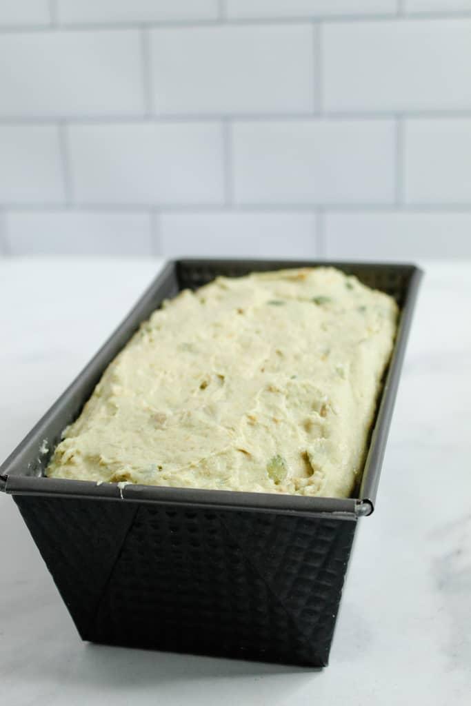 Gluten Free Buckwheat Bread in a baking pan