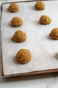 almond flour sugar cookies balls of dough
