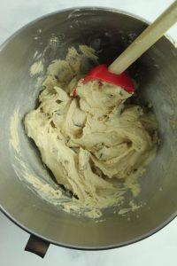 stirring blondie batter