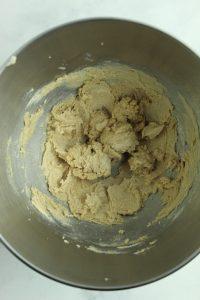 gluten free blondie batter mixed