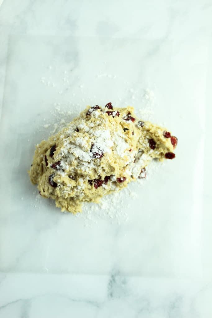 dough sprinkled with flour