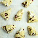 gluten free cranberry orange scones before baking