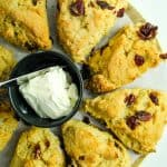 gluten free cranberry orange scones served