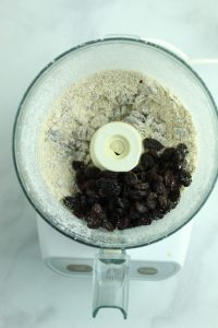 raisins in a food processor