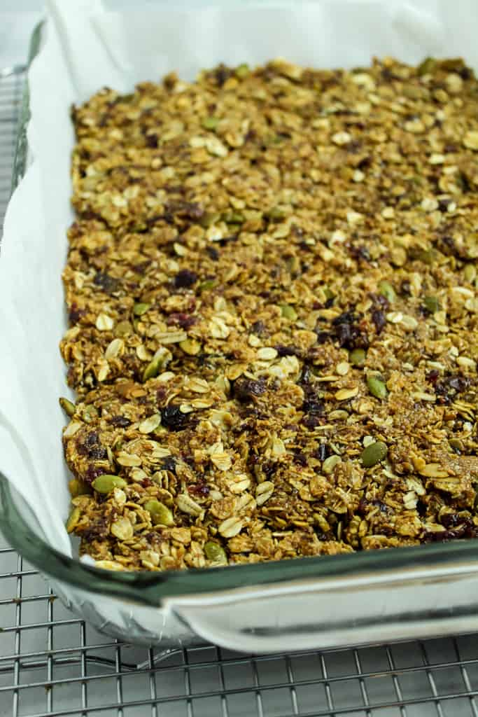 homemade granola bars baked