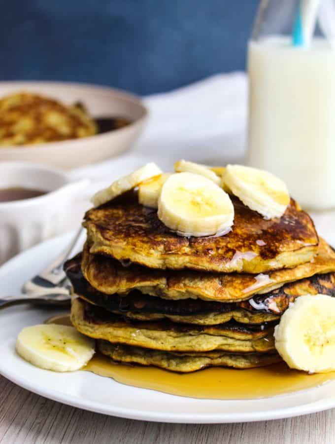 side close shot of pancakes