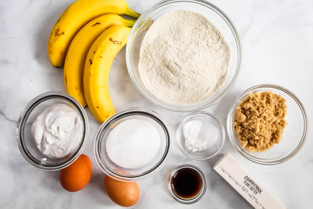 overhead shot of ingredients on a counter