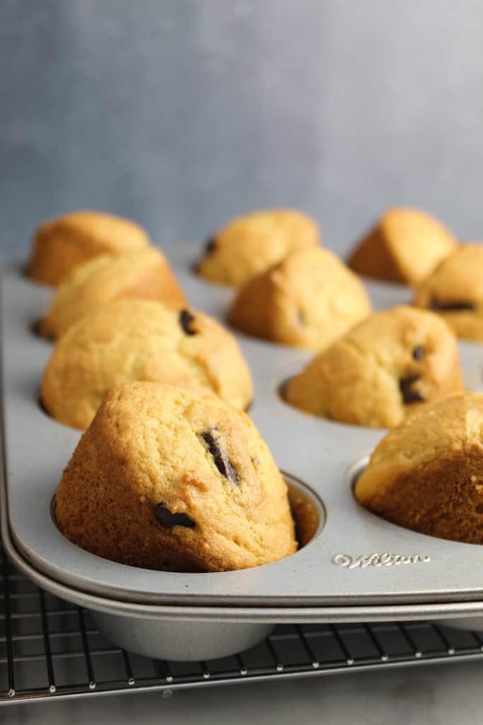 side shot baked muffins