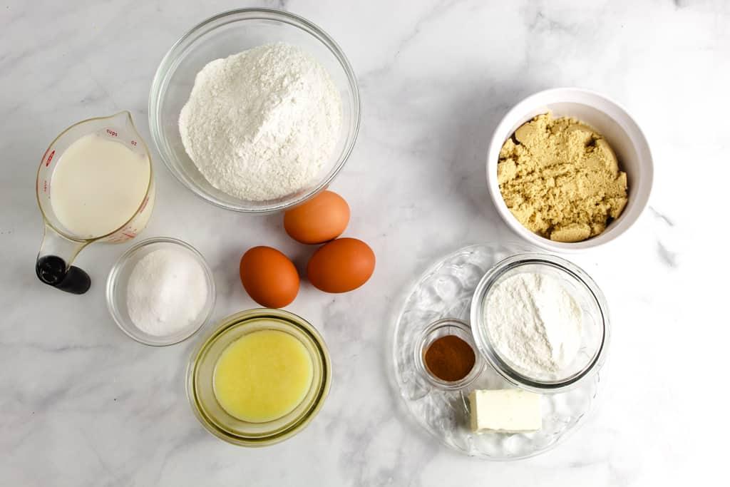 overhead shot of ingredients
