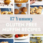 pin with a collage of muffin pictures