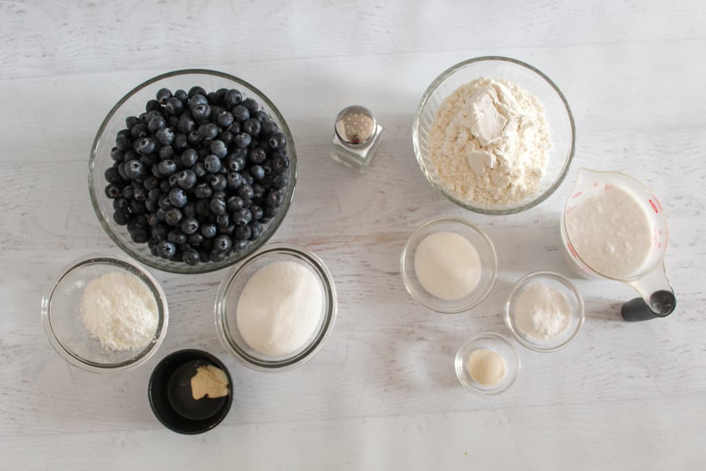 overhead shot of ingredients on counter