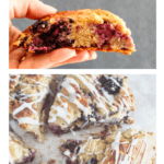 image of scones close up for pinterest