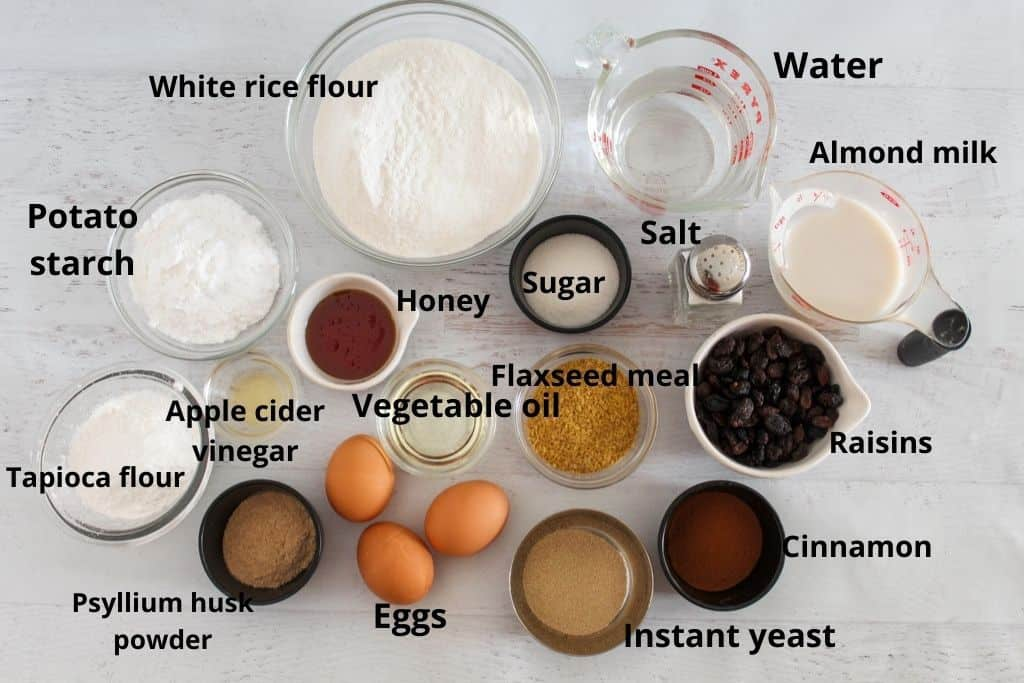 ingredients labeled sitting on a white countertop