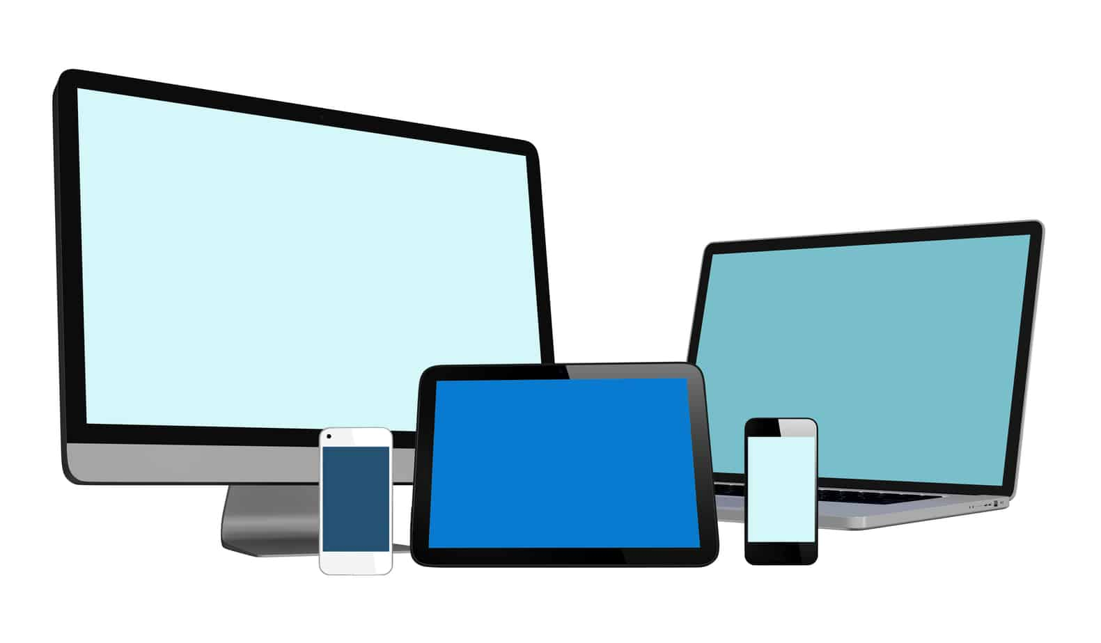 image of computers and laptop