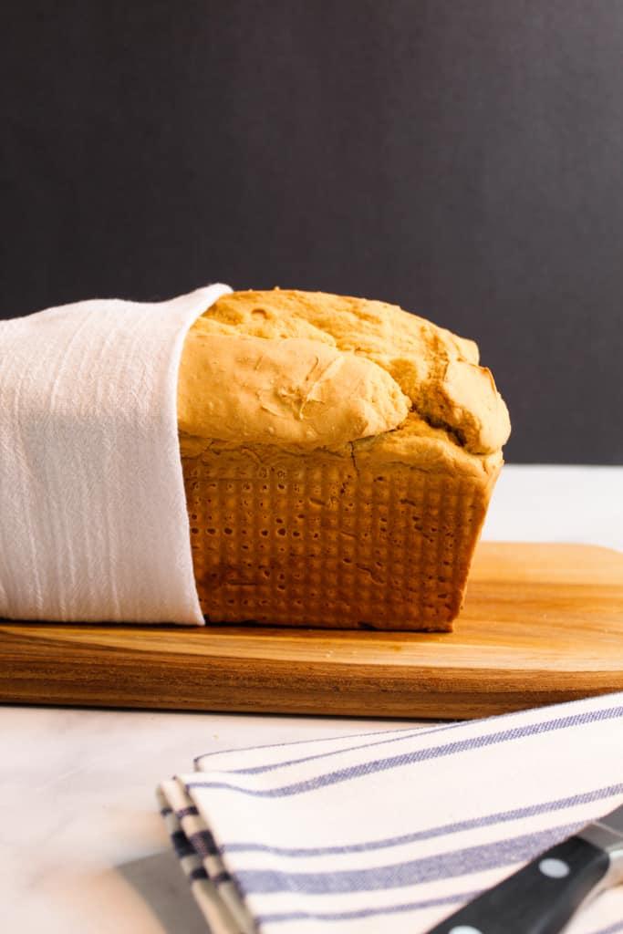 side shot of high rising bread