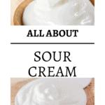 pin image of close up sour cream