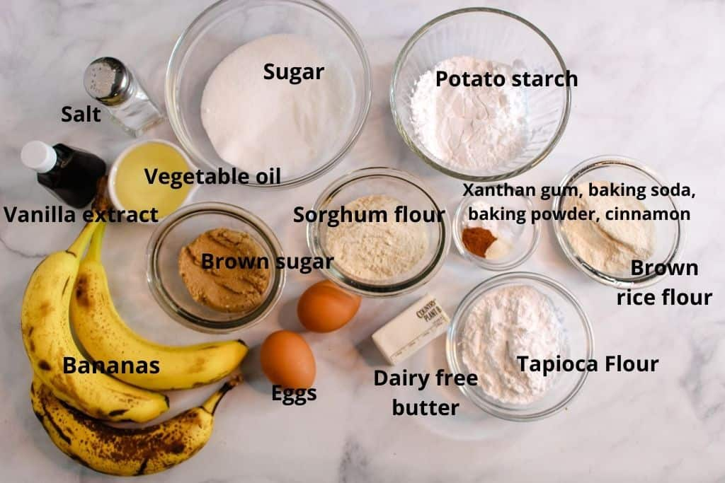 labeled ingredients sitting on a countertop