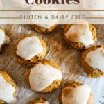pin image for pumpkin cookies