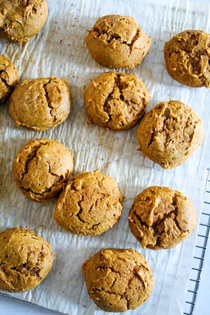 overhead shot of baked cookies